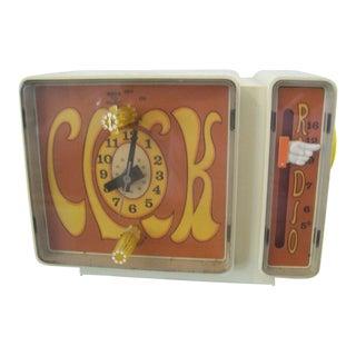 Super Mod 1960's Ge Electric Clock Radio Exc Cond
