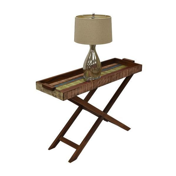 This console table made of rustic peroba wood paired with a contemporary design make this piece a perfect stylish blend to...