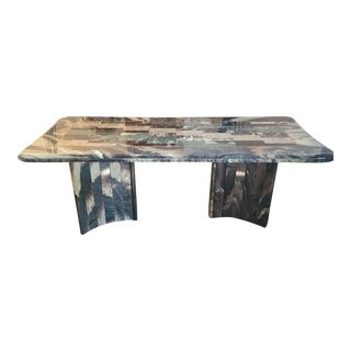 Postmodern Italian Marble Dining Table For Sale