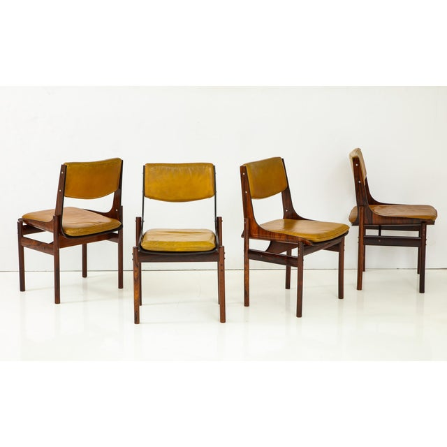 Jacaranda and Leather Dining Chairs From Brazil - Set of 4 For Sale - Image 13 of 13