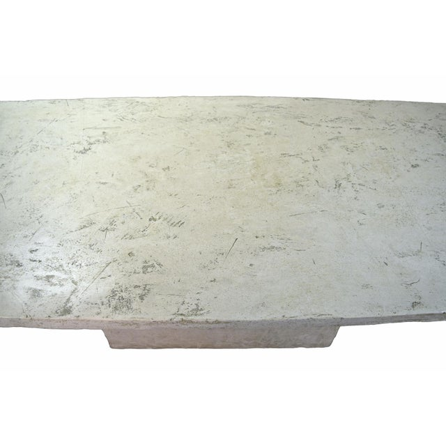 1980s Vintage Faux Raw Stone Dining Table / Conference Table For Sale - Image 5 of 12