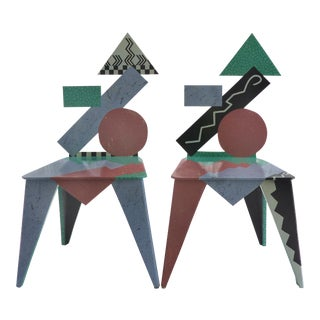 Memphis Style Chairs by Shawn O'Leary 1992- a Pair