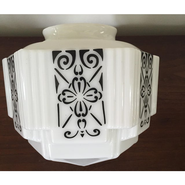 Art Deco Flush Mount Ceiling Fixtures - A Pair - Image 4 of 5