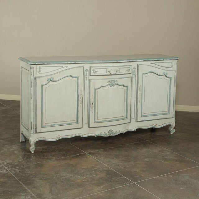Antique Country French Painted Buffet For Sale - Image 10 of 10