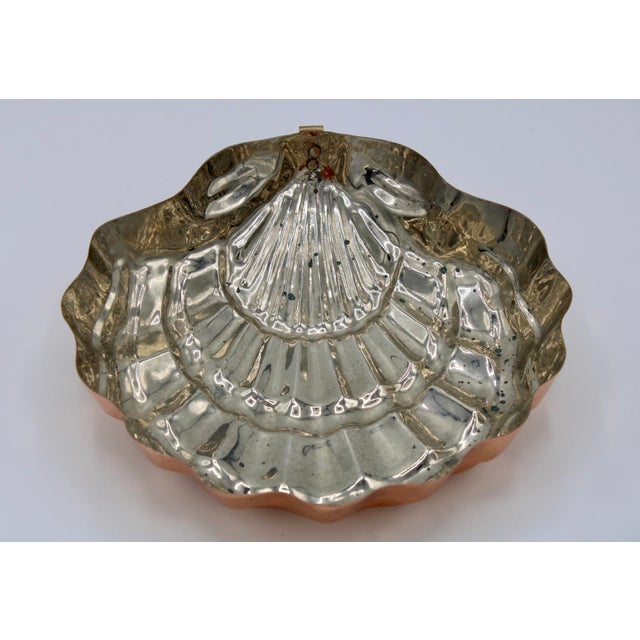 Hollywood Regency Vintage Large Copper Clam Shell Mold For Sale - Image 3 of 5