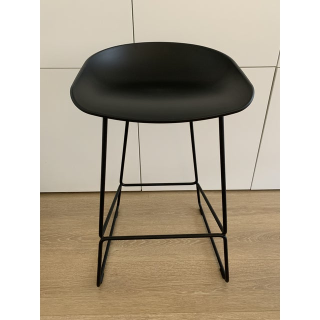 Hee Welling for Hay Black Danish Counter Stool For Sale In Miami - Image 6 of 6