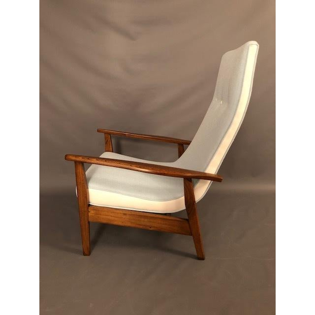 Walnut Mid-Century Highback Lounge Chair For Sale - Image 7 of 12