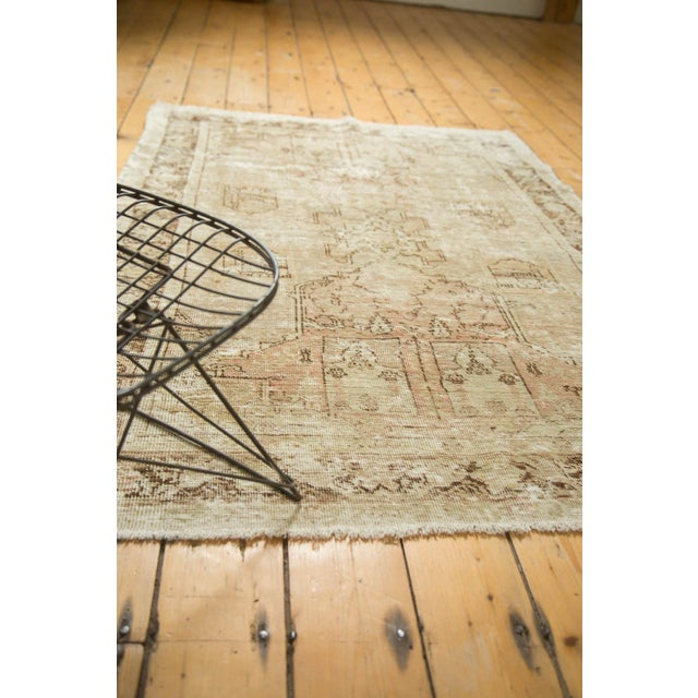 "Vintage Distressed Oushak Rug - 4' x 5'11"" - Image 9 of 10"