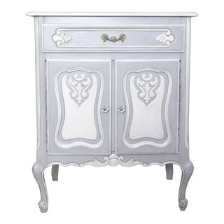 French Provincial Blue Cabinet For Sale