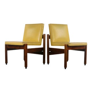 Set of Two (2) Mid Century Modern Slipper Lounge Chairs By Thonet For Sale