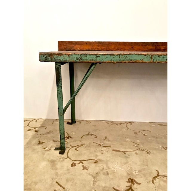 French 20th Century Industrial Workbench or Console For Sale - Image 3 of 12