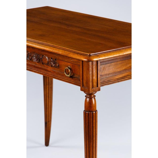 French Louis XVI Style Walnut Desk, Early 1900s For Sale - Image 10 of 11