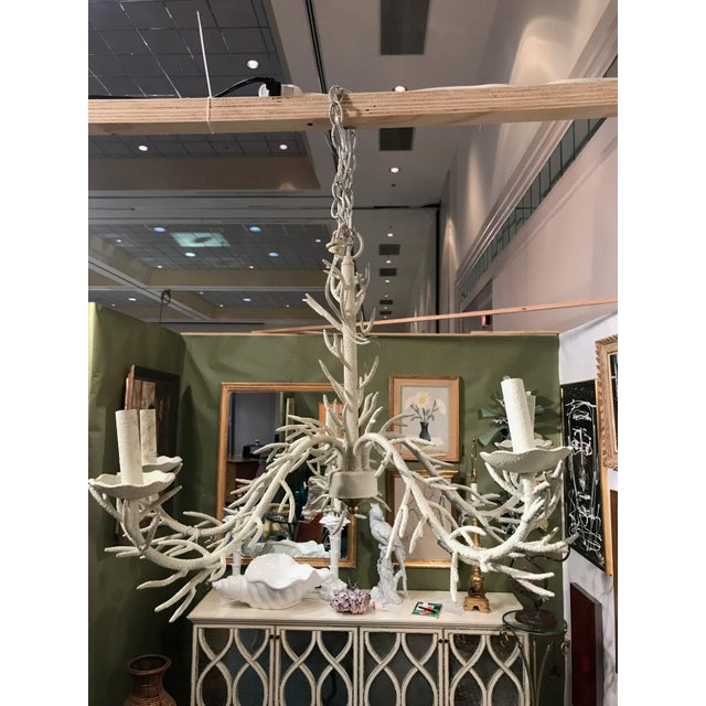 1950s Mid Century Modern Coral Chandelier For Sale - Image 5 of 5