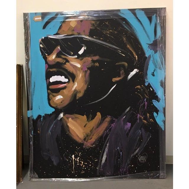 Stevie Wonder Original Painting by David Garibaldi - Image 2 of 4
