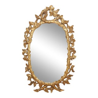 Napoleon III Oval Gilt Mirror For Sale