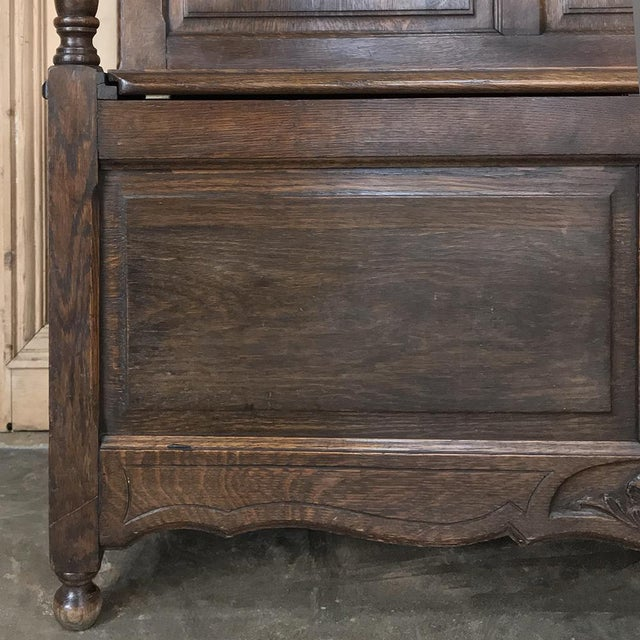 Antique Country French Provincial Hall Bench For Sale - Image 9 of 12