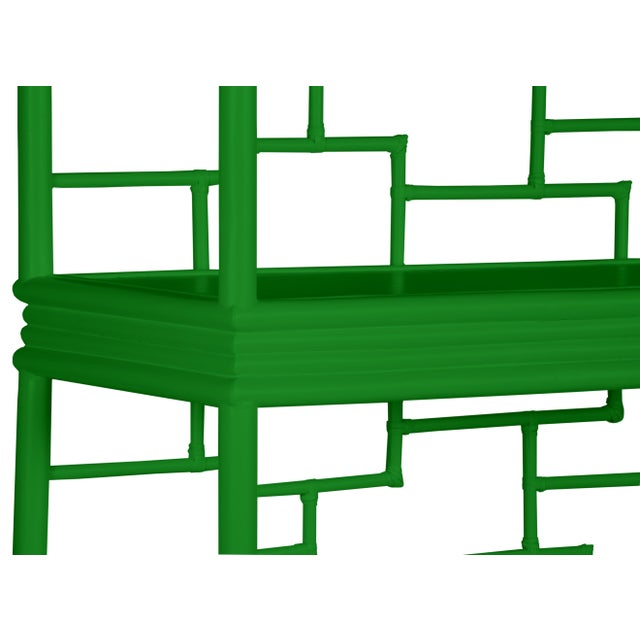 Tibet Etagere - Bright Green For Sale In West Palm - Image 6 of 7