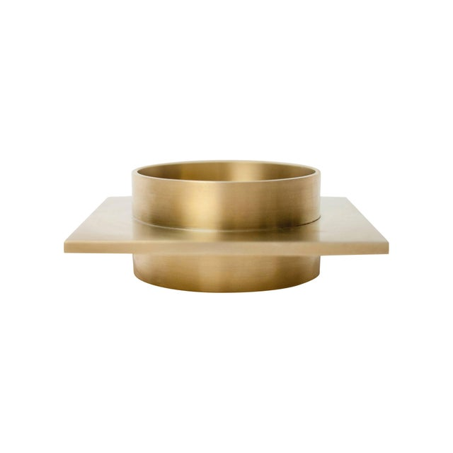 2010s Modern Contemporary 001 Ashtray Dish in Brass by Orphan Work For Sale - Image 5 of 5