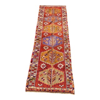 1950s Vintage Kurdish Runner Rug - 3′9″ × 12′1″ For Sale