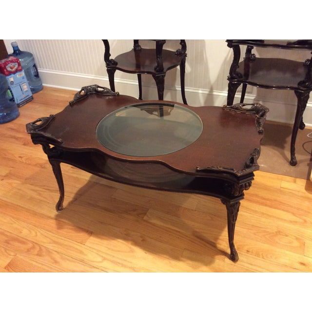"Chippendale ""Looking Glass"" Coffee Table - Image 2 of 4"