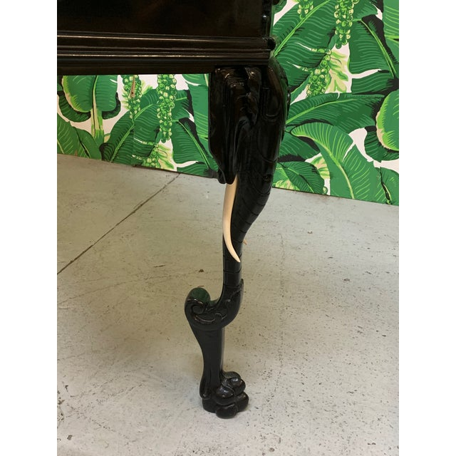 1980s Intricate Carved Elephant Table in the Manner of Gampel Stoll For Sale - Image 5 of 13