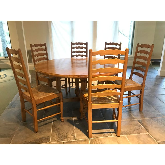 Camel Andre Originals Solid Wood Kitchen Dining Set - 7 Pieces For Sale - Image 8 of 8