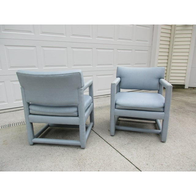 Ethan Allen Late 20th Century Parsons Style Arm Chairs -A Pair For Sale - Image 4 of 13