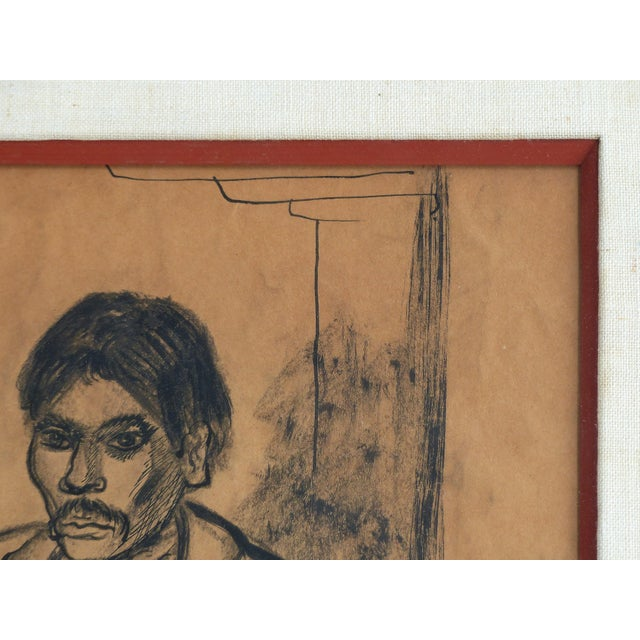 Federal Charcoal on Paper by American Artist Marion Greenwood, Signed ,1933, Mexico For Sale - Image 3 of 8