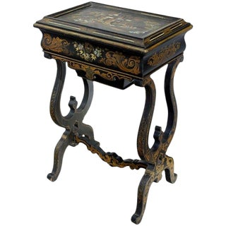 Mid 18th Century Antique Napoleon III Lady's Work Table For Sale