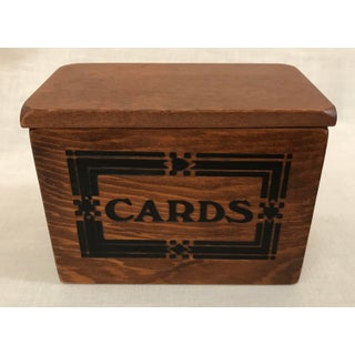 Vintage Wooden Playing Card Box Preview