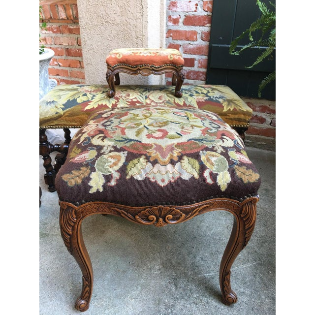 One of several great antique stools and benches from our most recent container! Fabulous French Louis XV style with...