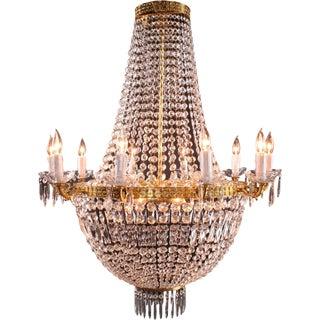 New Italian Cut Glass Empire Napoleon Style For Sale