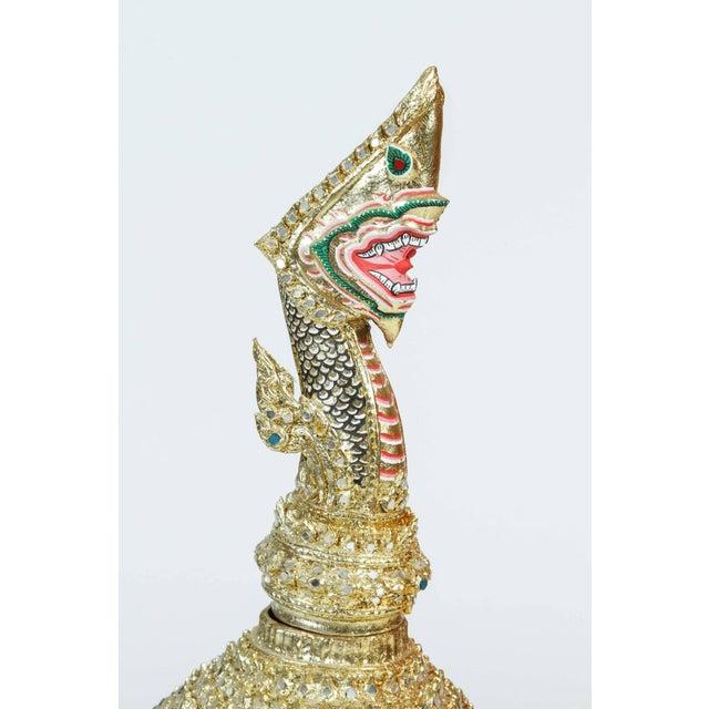 Gilt Thai Demon Mask Dance Headdress Crown For Sale - Image 4 of 9