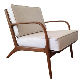 Mid Century Modern Adrian Pearsall for Craft Associates Bent Arm Lounge Chair For Sale