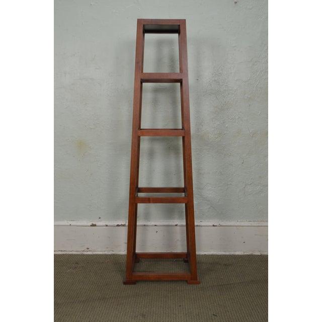 2000s Custom Crafted Oak Obelisk Tall Pedestal Stands (Illegibly Signed Maker) For Sale - Image 5 of 13