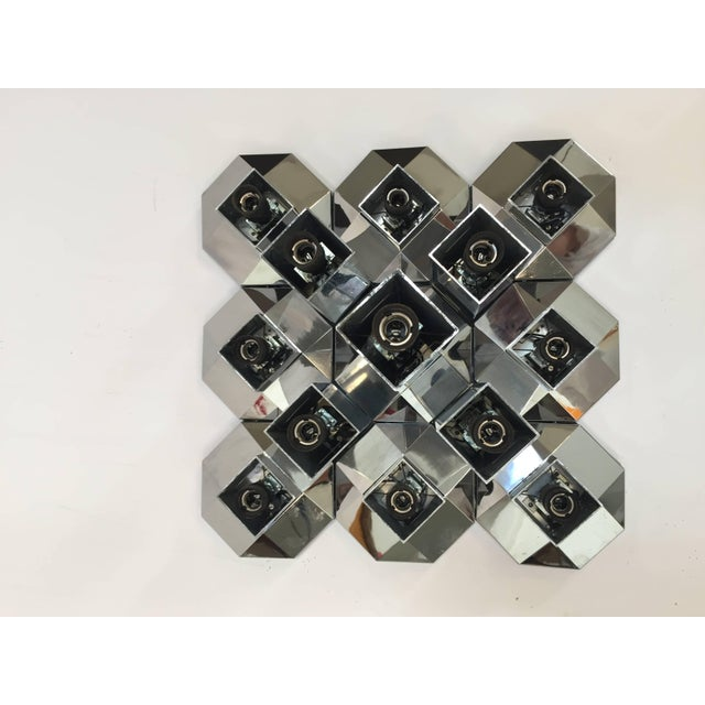 Motoko Ishii Extra Large Modular Wall or Ceiling Lamp by Motoko Ishii for Staff, 1970s For Sale - Image 4 of 10