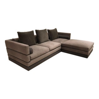 Nathan Anthony Evok Sofa and Evok Bumper Ottoman For Sale