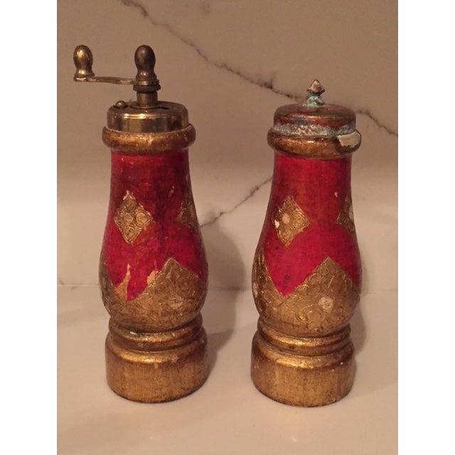 Italian Vintage Acciaio Garant Florentine Salt & Pepper Shakers For Sale - Image 3 of 7