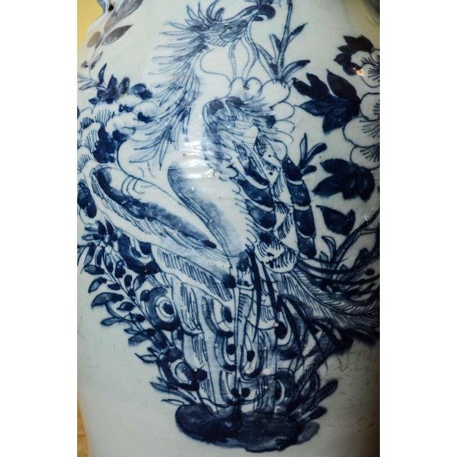 Blue & White Temple Vase - Image 6 of 7