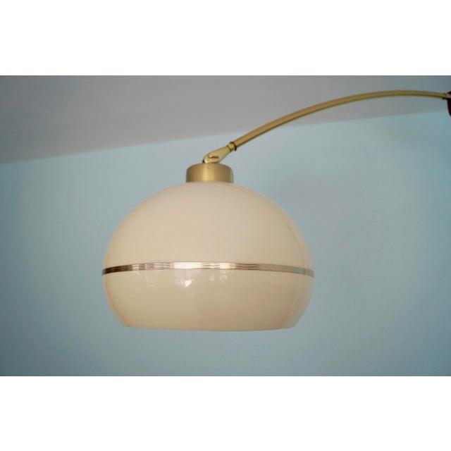 Brass Mid-Century Modern Nova Lighting Arc Floor Lamp For Sale - Image 7 of 11