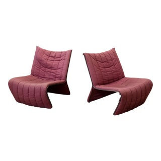 Kebe Danish Modern Futuristic Lounge Chairs - a Pair For Sale
