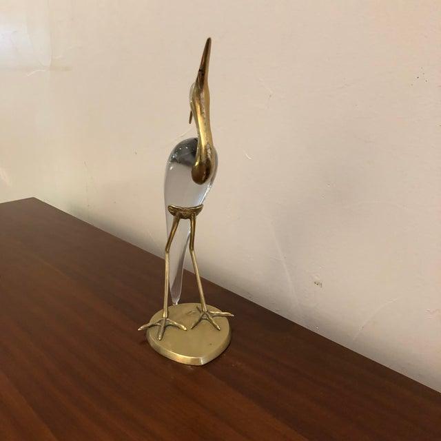 Mid-Century Modern 1970s Vintage Luca Bojola Crane Sculpture For Sale - Image 3 of 10