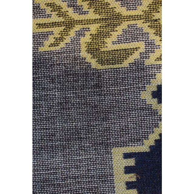 Yellow Handmade Vintage Kilim Rug - 4′4″ × 2′6″ For Sale - Image 8 of 13
