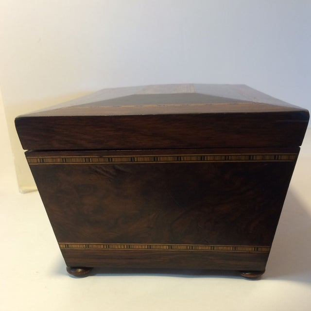 Brazilian Rosewood Double Tea Caddy - Image 3 of 7