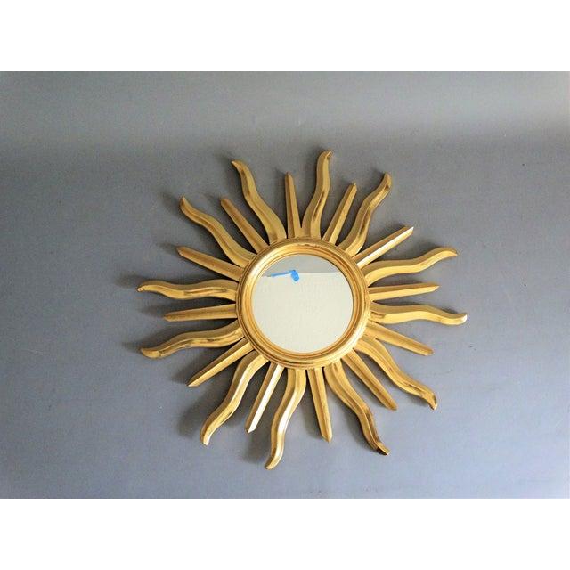 Giltwood Mid Century Italian Sunburst Mirror For Sale - Image 7 of 10
