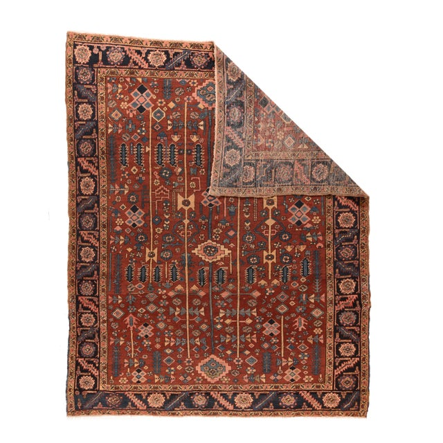 Persian Hand Knotted Persian Heriz Wool For Sale - Image 3 of 4