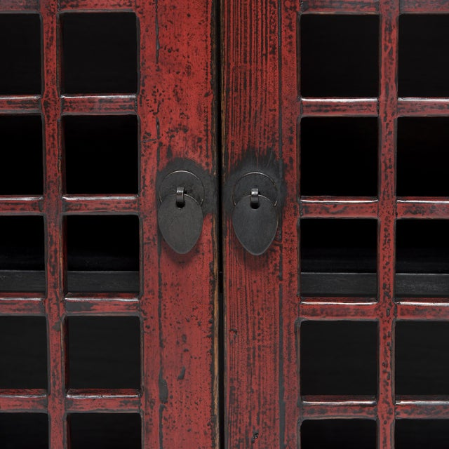 Metal Chinese Courtyard Lattice Coffer For Sale - Image 7 of 9