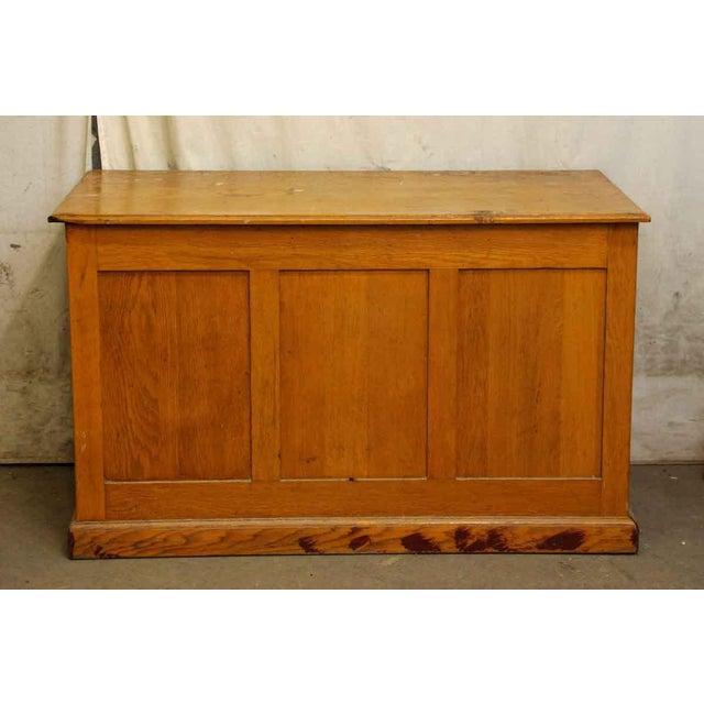 Restorable Oak Wood Library Desk - Image 8 of 8