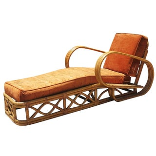 "Rattan Four-Strand ""Speed"" Arm Chaise Lounge"