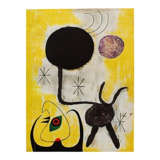 "1940s Juan Miró, ""Woman and Birds in Front of the Sun"" Original Period Swiss Lithograph For Sale"
